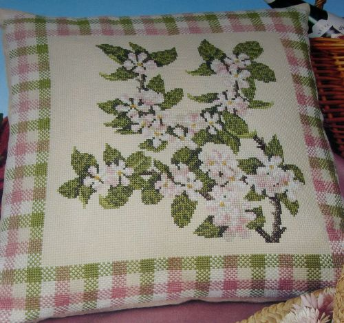 Apple Blossom Cushion ~ Cross Stitch Chart