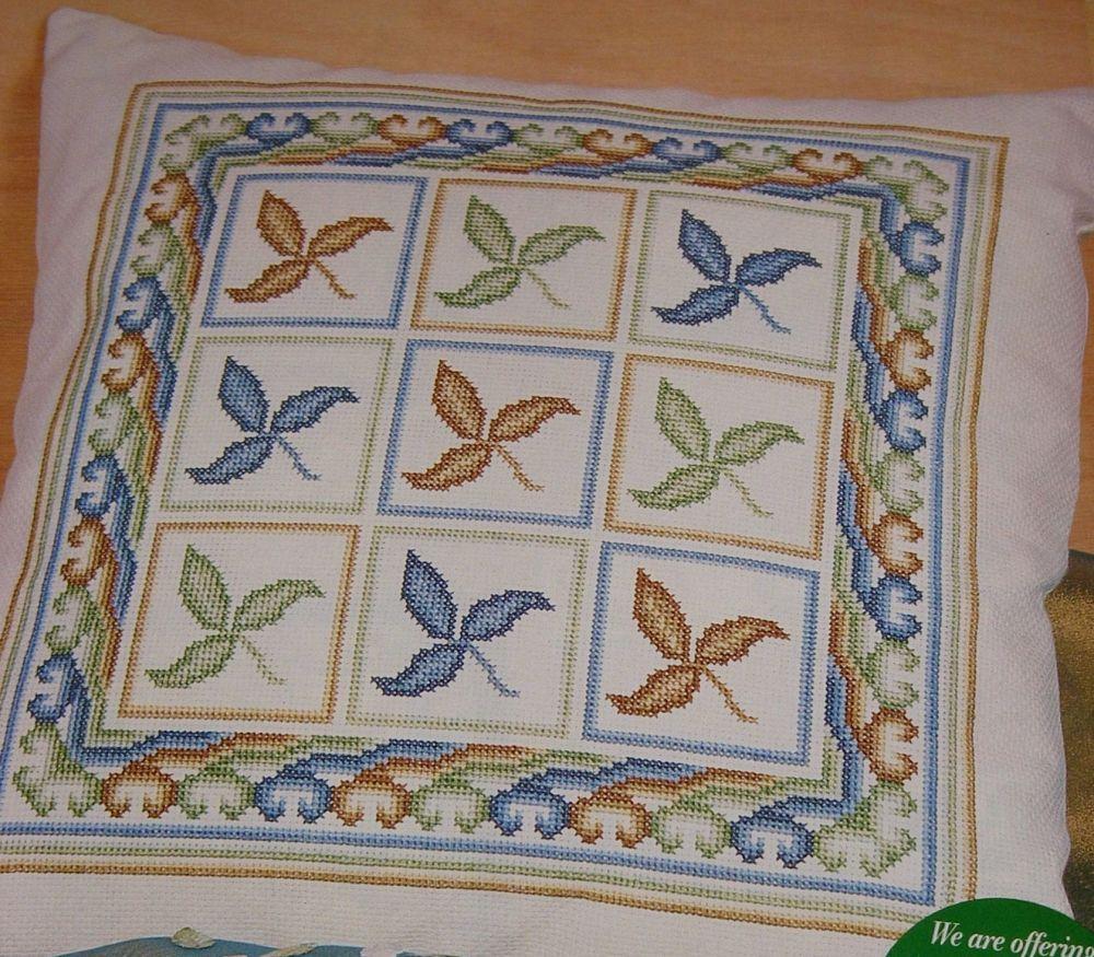 Leaf Cushion ~ Cross Stitch Chart