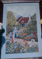 Victorian Country Cottage Scene ~ Cross Stitch Chart