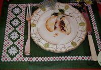 Hardanger Christmas Placemat ~ Hardanger Embroidery Pattern