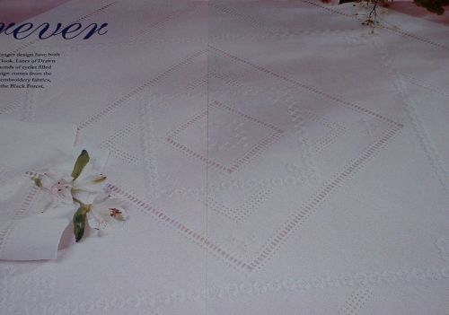 Diamond Hardanger Table Cloth & Napkins ~ Embroidery Patterns