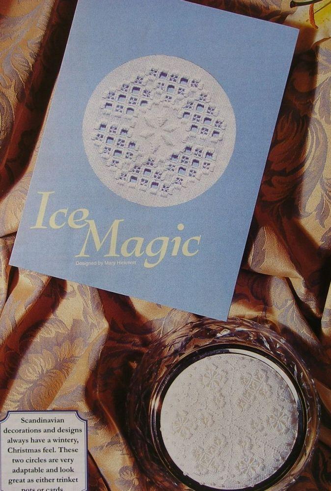 Hardanger Christmas Snowflake Card Trinket Pot Lid: Hardanger Patterns