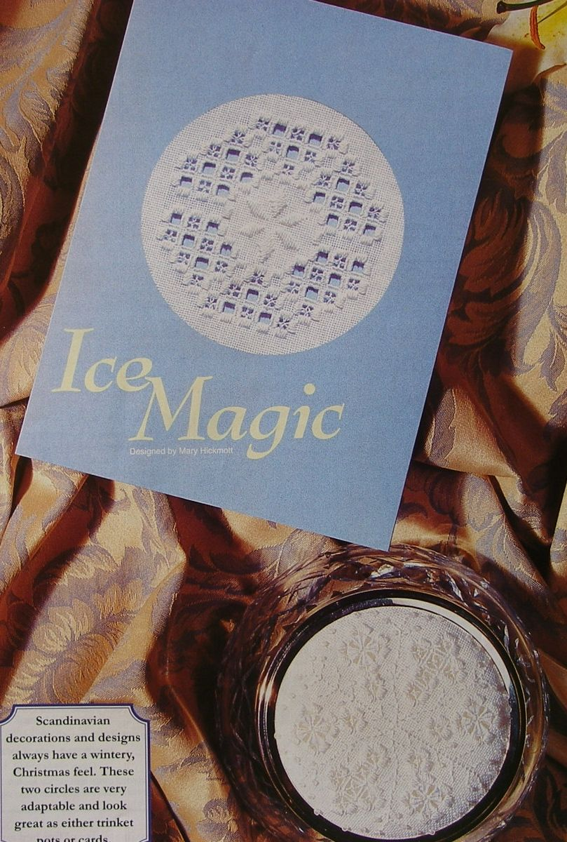 Hardanger Christmas Snowflake Card Trinket Pot Lid: Hardanger Patterns