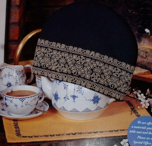 Tea Cosy & Table Mat ~ Two Blackwork Patterns
