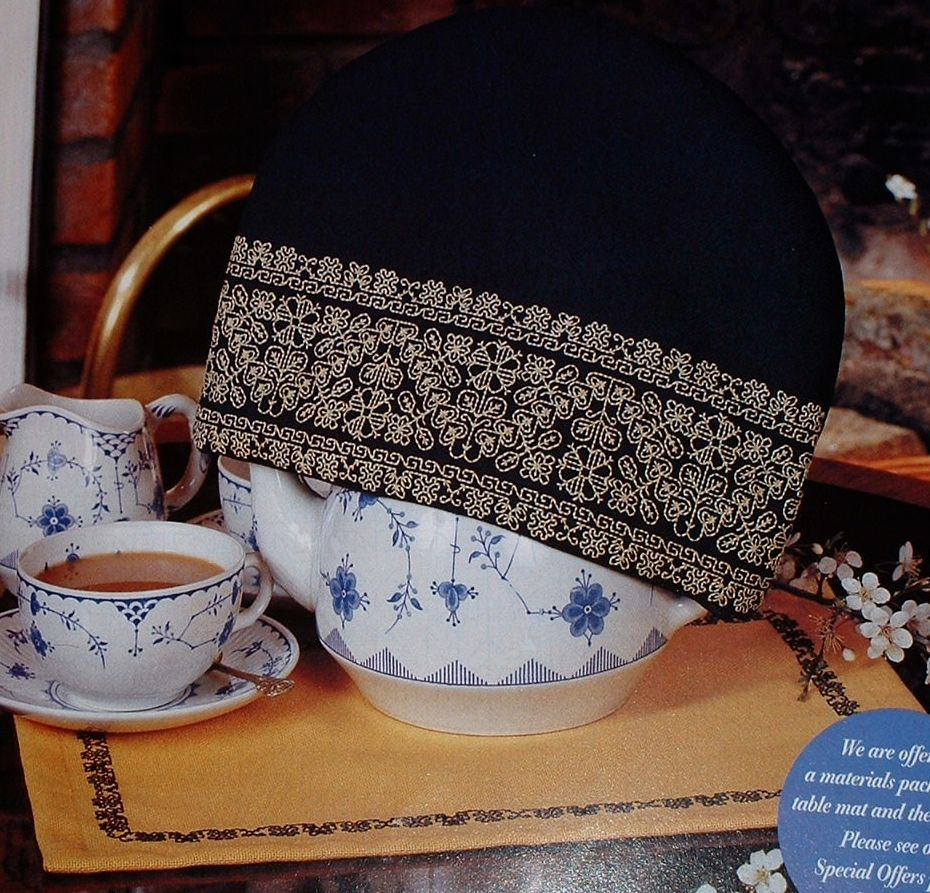 Tea Cosy & Table Mat ~ Two Blackwork Patterns