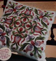 Floral Geometric Cushion & Dolls House Cushion ~ Cross Stitch Charts