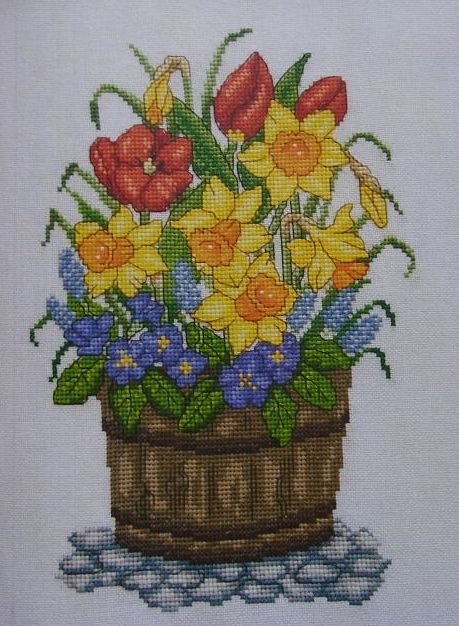 Flowering Spring Bulbs ~ Cross Stitch Chart