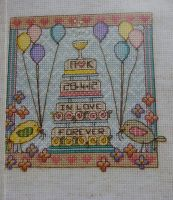 Wedding Sampler Toast ~ Cross Stitch Chart