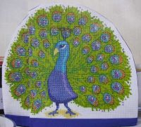 Peacock Tea Cosy ~ Cross Stitch Chart