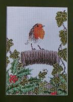 Robin Amongst the Foliage ~ Cross Stitch Chart