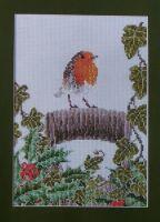 Robin Amongst the Foliage ~ Cross Stitch Chart