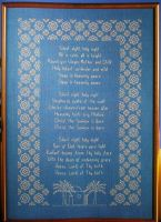 Silent Night Holy Night Christmas Carol Sampler ~ Cross Stitch Chart