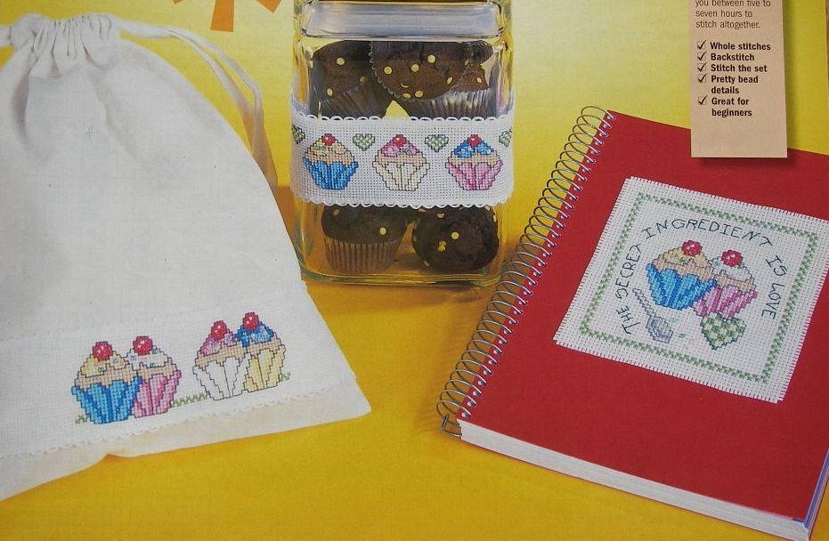 Cupcake Motifs ~ Three Cross Stitch Charts