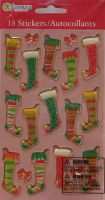 Sandylion ~ Christmas Stockings & Bows Gem Stickers