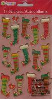 Sandylion ~ Christmas Stockings & Bows Gem Stickers