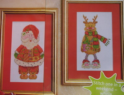Christmas Santa & Rudolph Reindeer ~ TWO Cross Stitch Charts