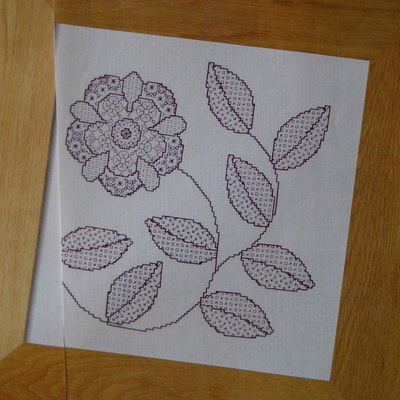 Tudor Style Rose ~ Blackwork Pattern