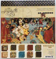 "Graphic 45 ~ Le Cirque 8 x 8"" Paper Pad"