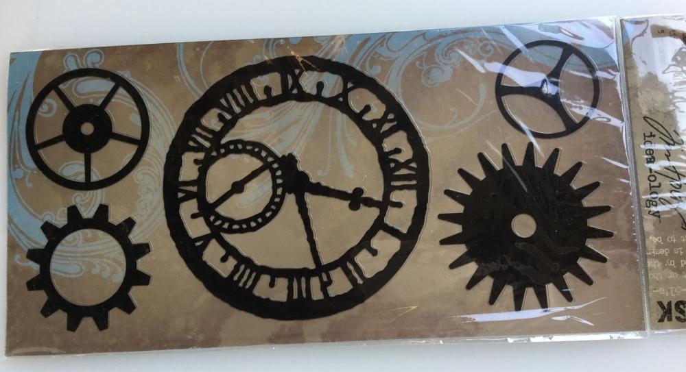 Tim Holtz Idea-ology Mask ~ Timeworks 5 pieces