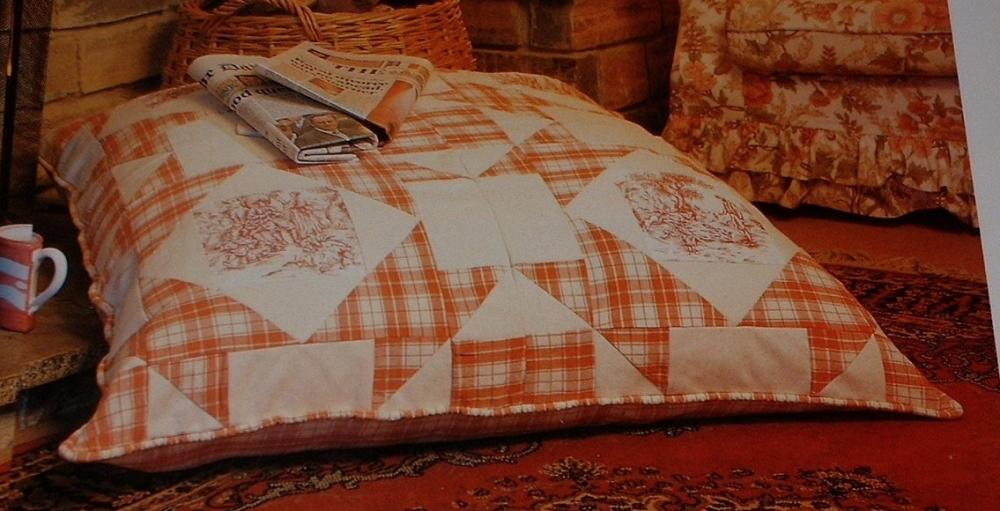 Giant Floor Cushion ~ Patchwork Sewing Pattern