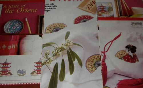 Oriental Japanese Designs ~ Eight Cross Stitch Designs