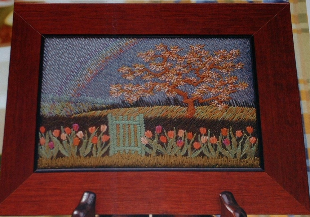 Embroidered Spring Landscape ~ Embroidery Pattern