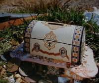 Buried Treasure Plastic Canvas Money Box ~ Cross Stitch Chart