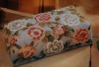 Rose Pattern Floral Brick Doorstop ~ Needlepoint Pattern