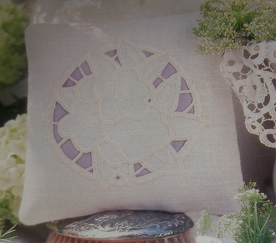 Lavender Scented Cushion ~ Cutwork Embroidery Pattern