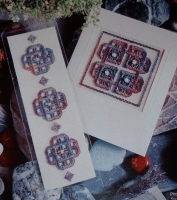 Greetings Card & Bookmark ~ Two Hardanger Patterns