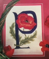 P is for Poppy ~ Free-style Embroidery Pattern