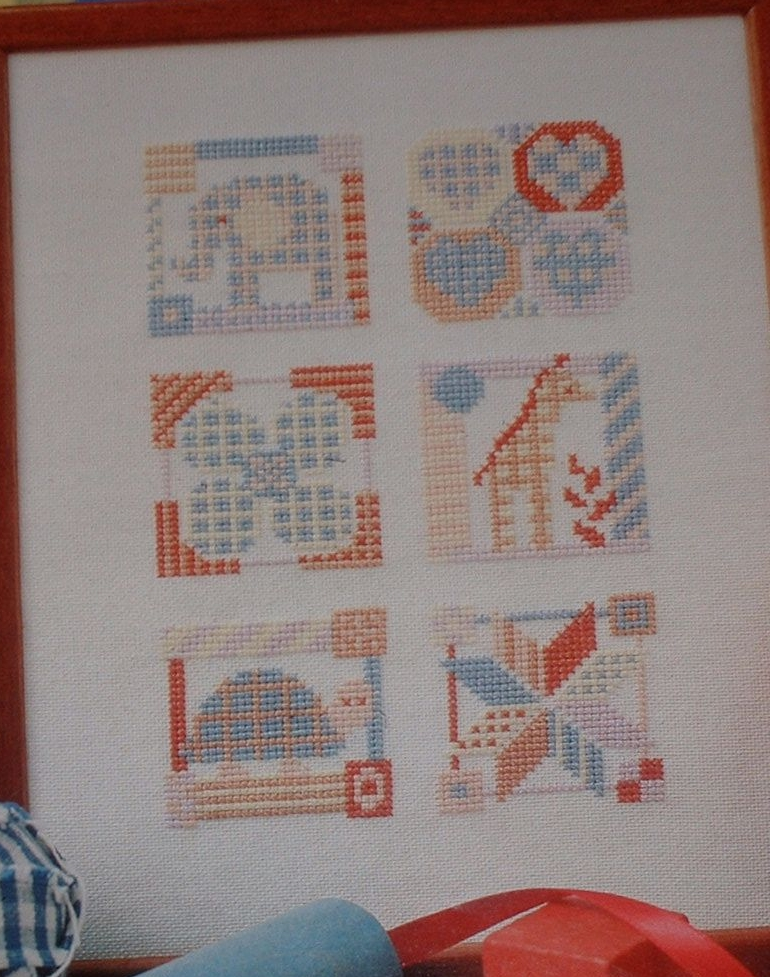 Toy Box Nursery Sampler ~ Cross Stitch Chart