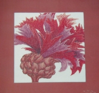 Thea Gouverneur: Crimson Flower ~ Cross Stitch Chart
