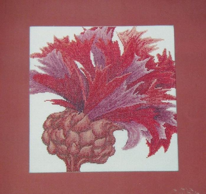 Thea Gouverneur: Crimson Flower ~ Cross Stitch Chart