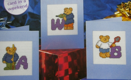 Men's Hobbies Teddy Bear ABC Alphabet ~ 26 Cross Stitch Charts