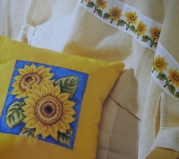 Sunflower Cushion, Card & Banding ~ Three Cross stitch Charts