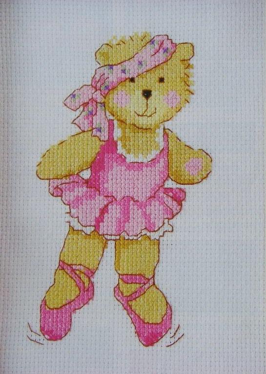 Busy Bear: Ballet Bear ~ Cross Stitch Chart