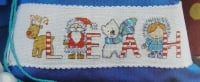 Arctic Creatures Christmas ABC Alphabet Cards ~ 26 Cross Stitch Charts
