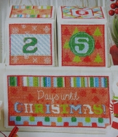 Days Until Christmas Count Down Advent Calendar ~ Cross Stitch Chart