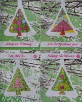Christmas Tree Ornaments / Cards ~ Seven Cross Stitch Charts