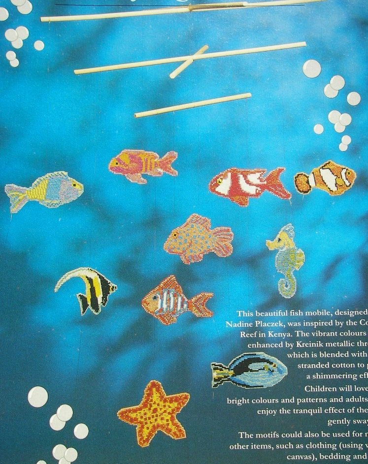 Ten Tropical Fish ~ Cross Stitch Charts