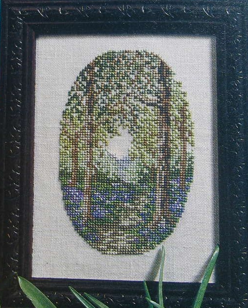 Bluebell Woodland Scene ~ Cross Stitch Chart