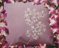 Exotic Orchid Cushion ~ Cross Stitch Chart
