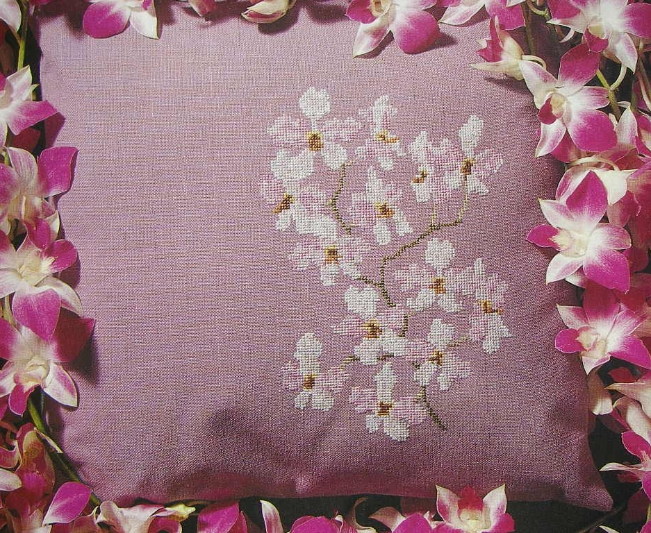 Exotic Orchid Cushion ~ Cross Stitch Chart