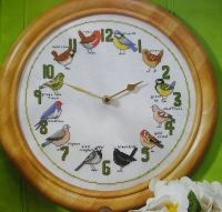 Clock of Garden Birds ~ Cross Stitch Chart
