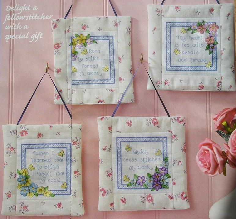Stitcher's Sayings Wall Hangings ~ Cross Stitch Charts
