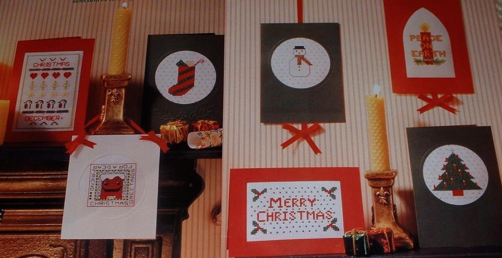 Seven Festive Christmas Cards ~ Cross Stitch Charts