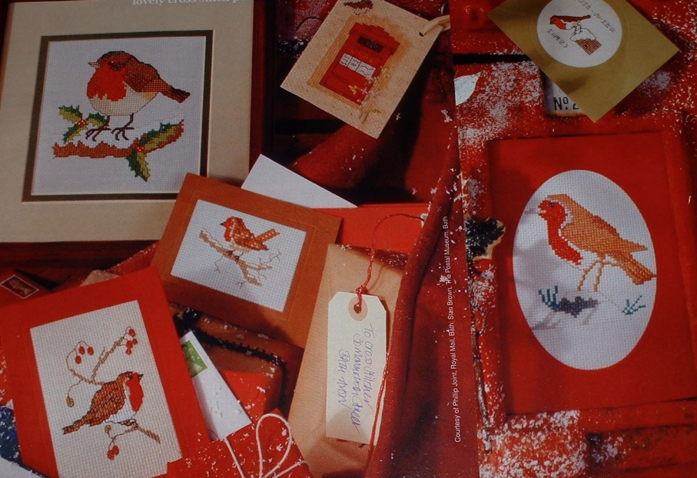 Christmas Robin Cards ~ Six Cross Stitch Charts