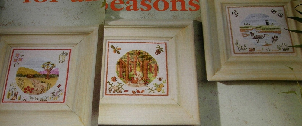 FOUR Seasonal Landscapes ~ Cross Stitch Charts