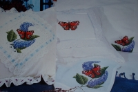 Peacock Butterfly on Purple Buddleia ~ Cross Stitch Chart